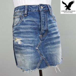 NWT American Eagle Jeans Mini Skirt distressed